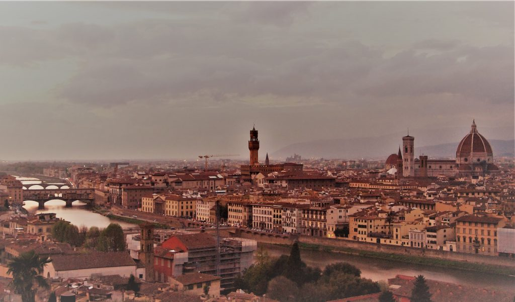 Florencia desde la Plaza de Miguel Angel Mirador de Florencia