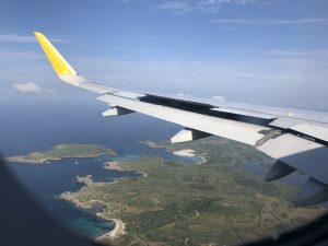Menorca desde un avión