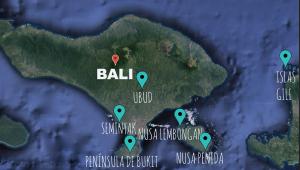Ruta mapa Bali en 10 días