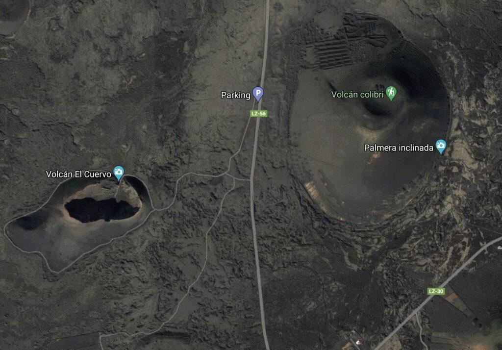 Volcán Montaña Negra lz30 y lz56